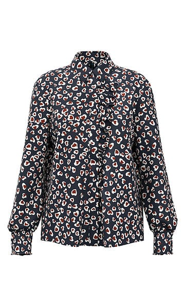 Blouses-Marc cain collection-RA 51.05 W71--Blauw