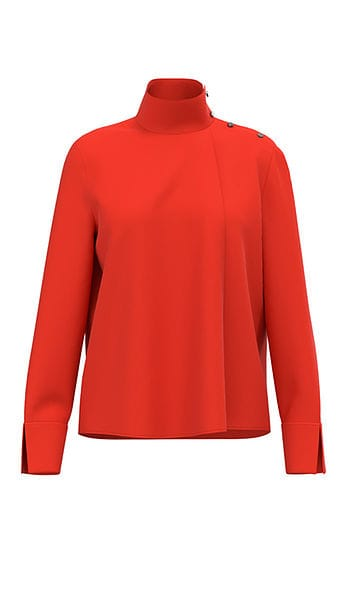 Blouses-Marc cain collection-RC 55.21 W01--Rood