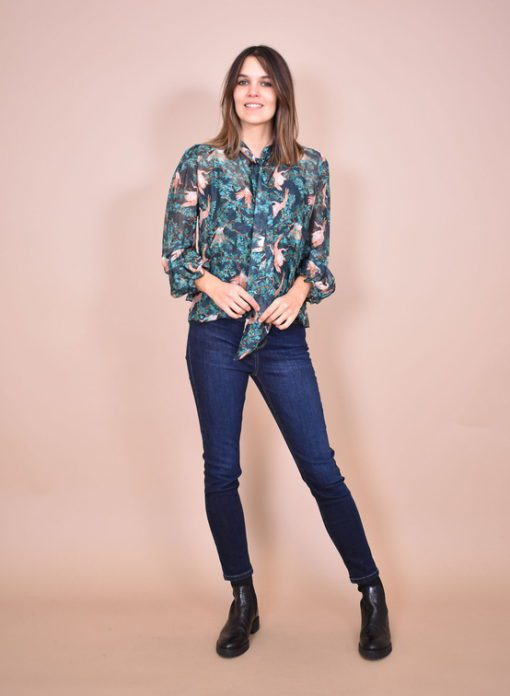 Blouses-La fee maraboutee-FB-TO-ANEMONE-S--Groen